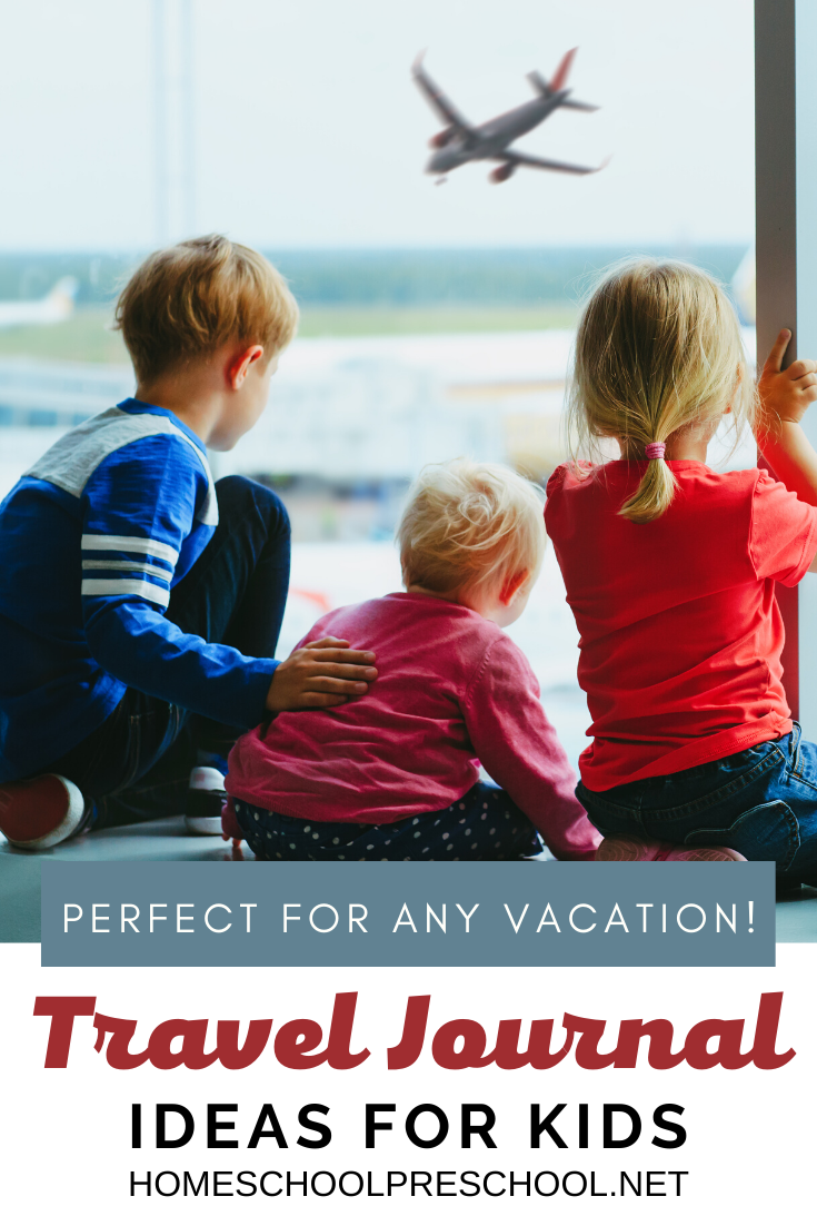 As you begin planning your summer vacation, be sure to print out one or more of these kids travel journal ideas. Kids of all ages will love recording their travel adventures!