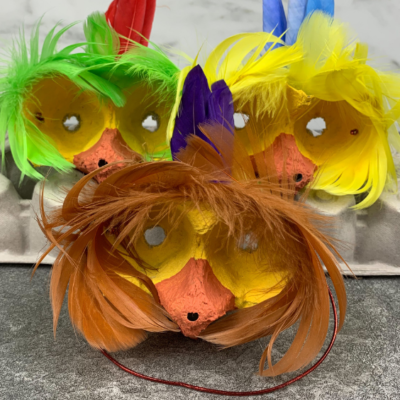 Bird Mask Egg Carton Craft