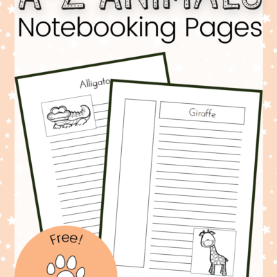 Animal Notebooking Pages